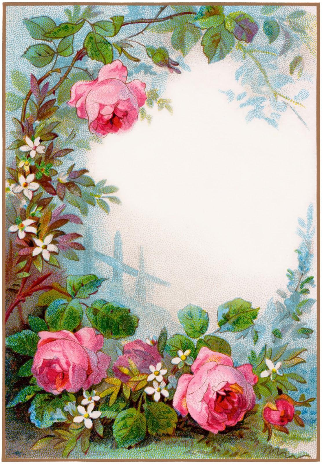 Vintage Flower clipart gardening Vintage 2012 Cottage Clip maio