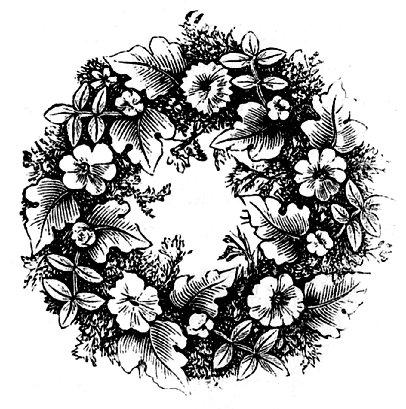 Wreath clipart victorian The Floral Graphics Clip –