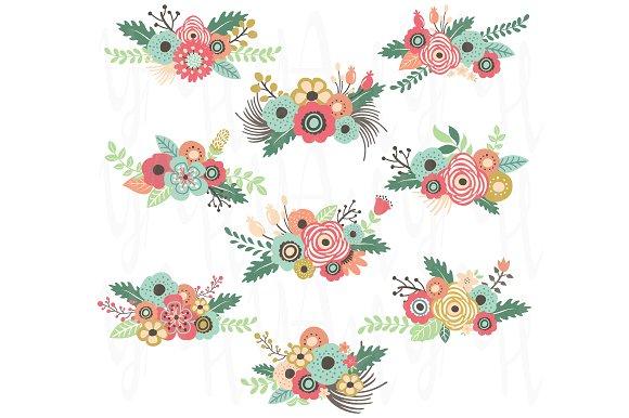 Vintage Flower clipart illustration ~ Art Market Floral Floral