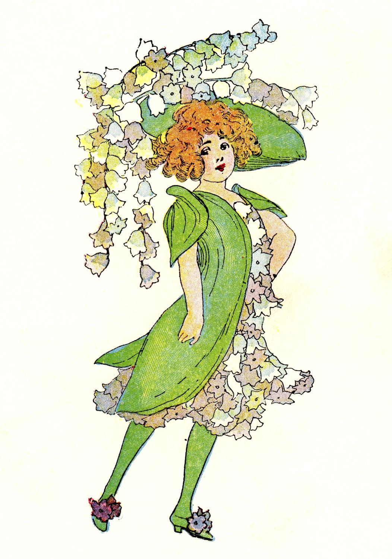 Vintage Flower clipart illustration Art 3 Art clip Clip