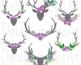 Vintage Flower clipart purple On floral wedding clipart flower