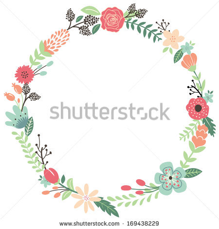 Vintage Flower clipart rustic frame  by Flowers Shutterstock by