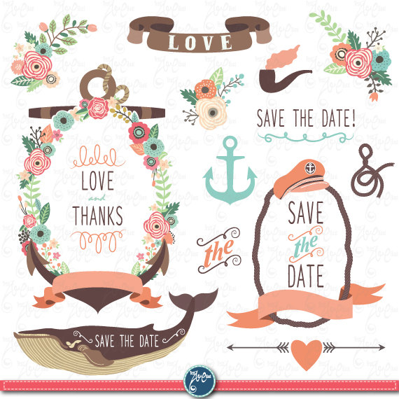 Clipart Flowers NAUTICAL