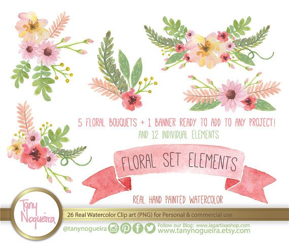 Vintage Flower clipart spring flower bouquet On 59 Policies Hand Wedding