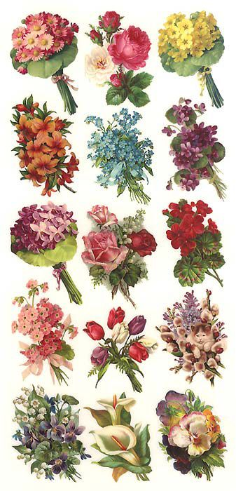 Vintage Flower clipart spring flower bouquet Scrapbooking Spring on FlowersVintage and