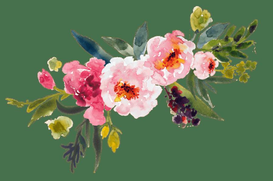 Vintage Flower clipart transparent Vintage Watercolor Of Bouquet StickPNG