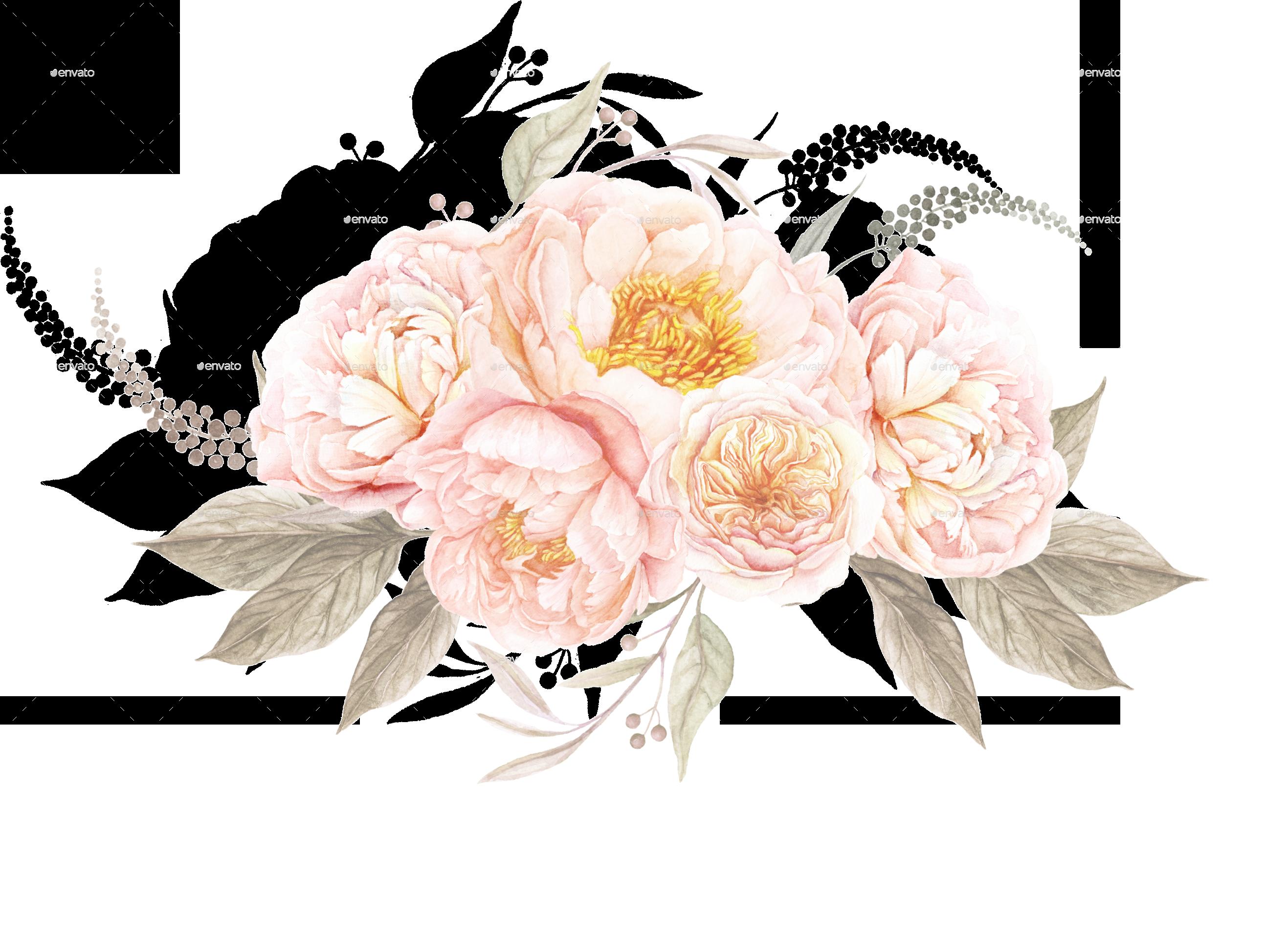 Vintage Flower clipart transparent 6 TEABERRYfloralbouquet/floralbouquet1 floral png GraphicRiver