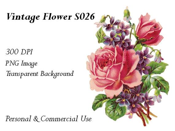 Vintage Flower clipart transparent Item? Like Flower File this