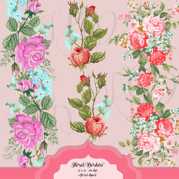 Vintage Flower clipart transparent Floral from Digital Shabby Shabby