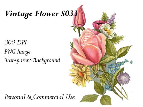 Vintage Flower clipart transparent To Vintage File Clip Items