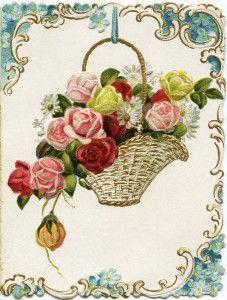 Vintage Flower clipart vintage birthday #8