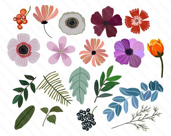 Vintage Flower clipart vintage birthday #9