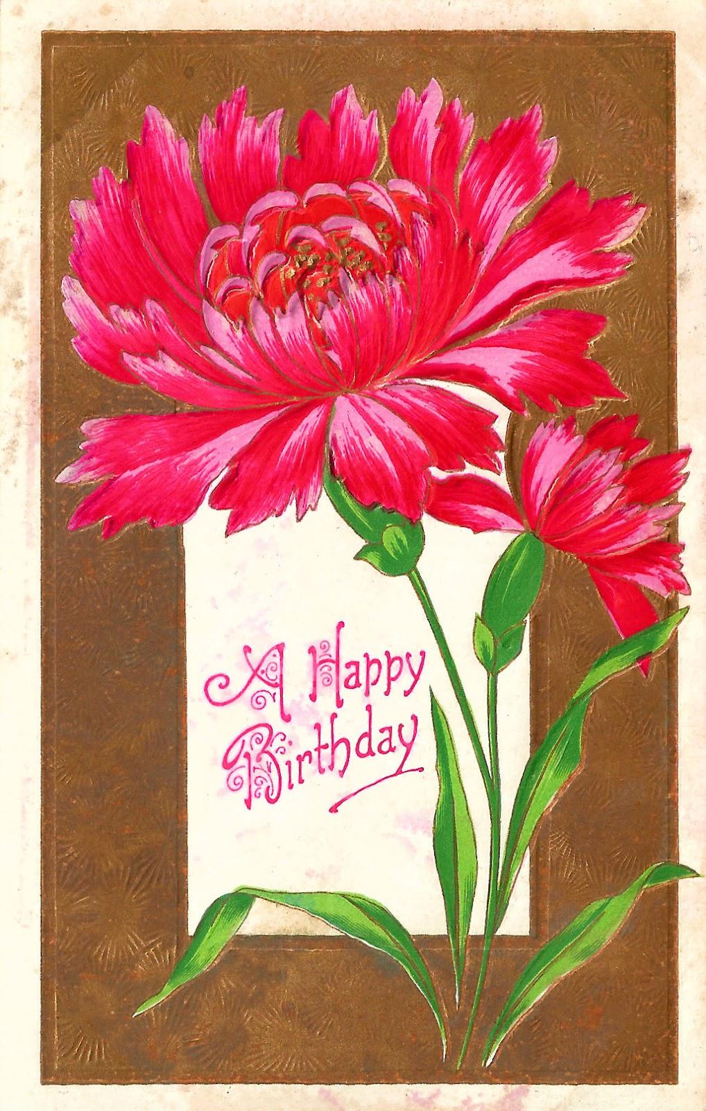 Vintage Flower clipart vintage birthday #11