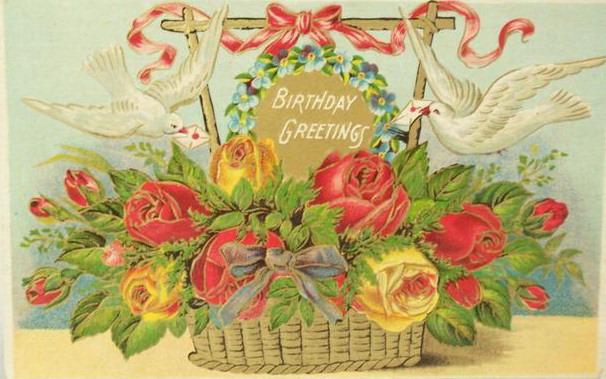 Vintage Flower clipart vintage birthday #10