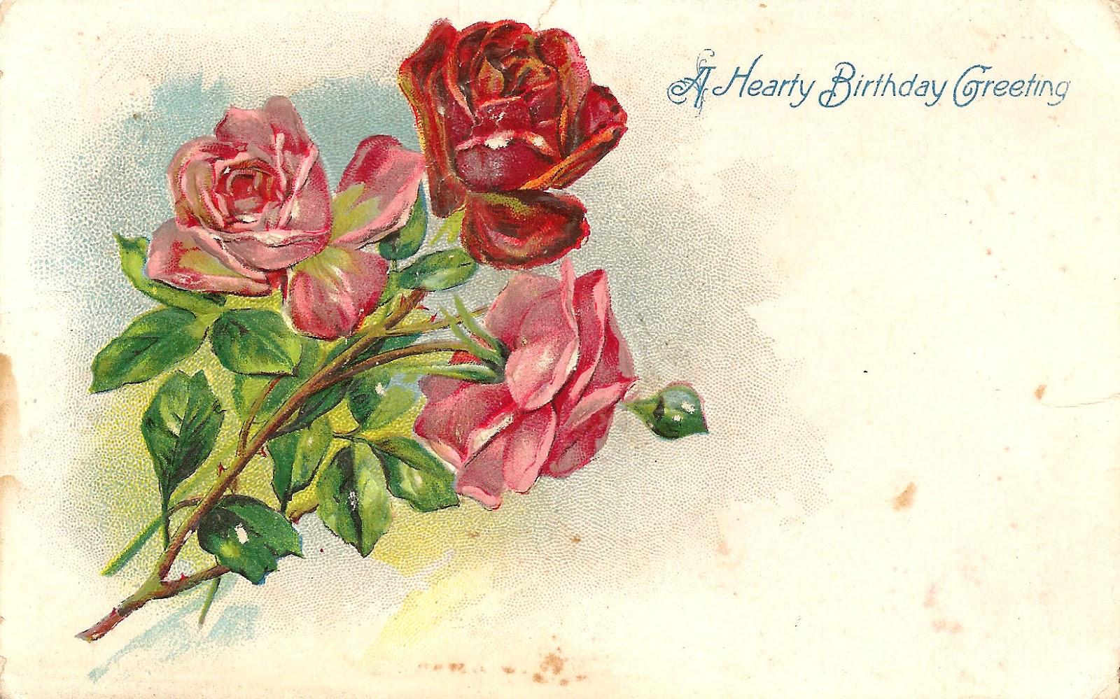 Vintage Flower clipart vintage birthday #7