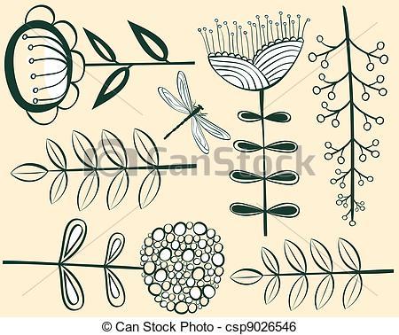 Vintage Flower clipart vintage line Clip  flower pattern pattern