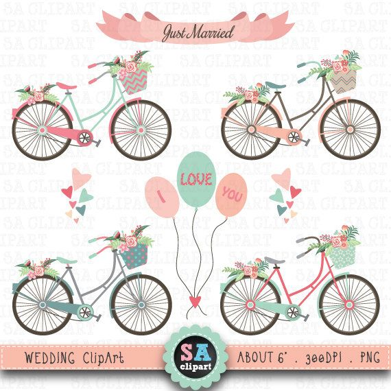 Decoration clipart wedding reception Flowers clip Wedding 25+ Bike