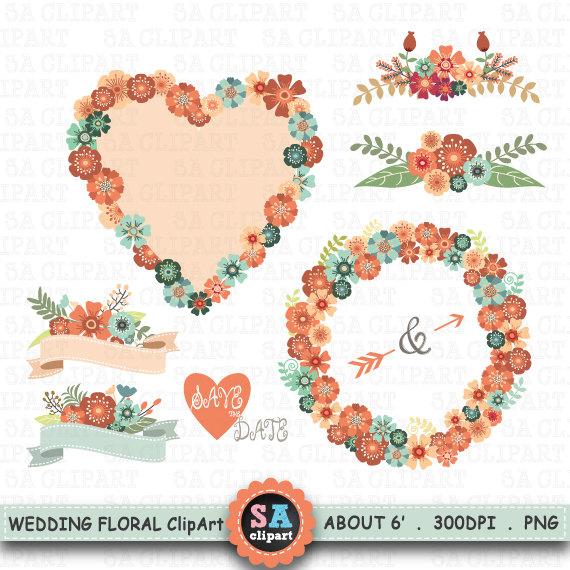 Vintage Flower clipart wedding floral Pack