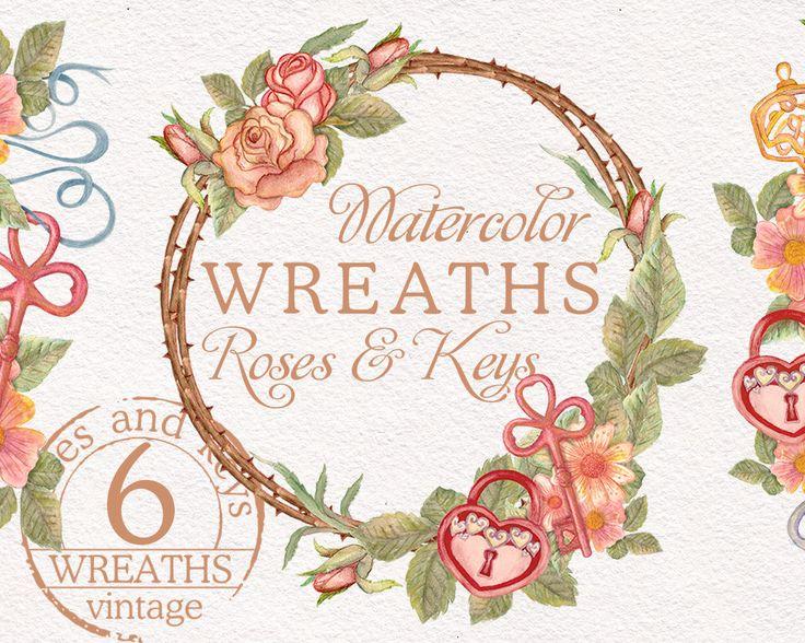 Vintage Flower clipart wedding invitation #11