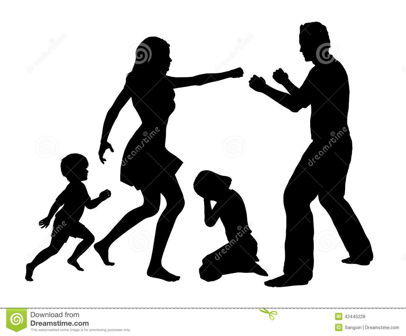 Violence clipart black and white & clipart Domestic Clipart Domestic