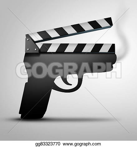 Violence clipart handgun For slate Clipart or Illustration