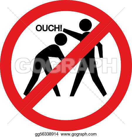 Violence clipart hitting And Illustration no hitting forbidden