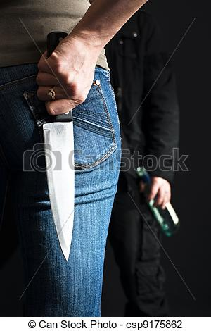Violence clipart knife Stock a violence  Young