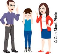 Violence clipart strict parent Father mother Father Son Images