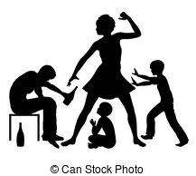 Violence clipart strict parent Family due Alcohol Violent 2