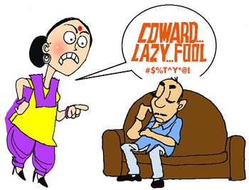 Violence clipart unhappy family Tribune Sunday Joshi The Sandeep