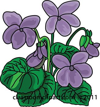 Violet clipart Flower Art Clipart Clip Free