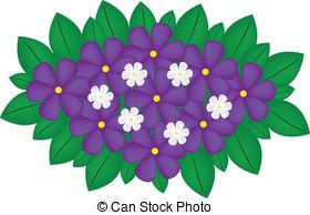 Violet clipart  Clipart vector EPS Violet