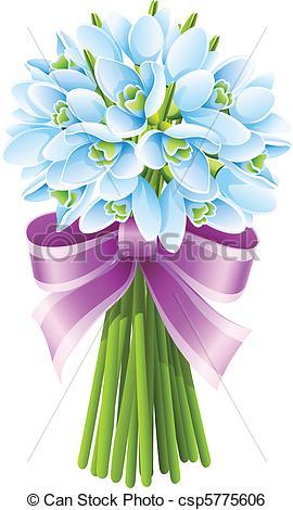 Bouquet clipart spring flower bouquet Flowers with bouquet Clip spring