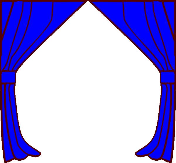 Curtain clipart blue curtain Image art vector clip