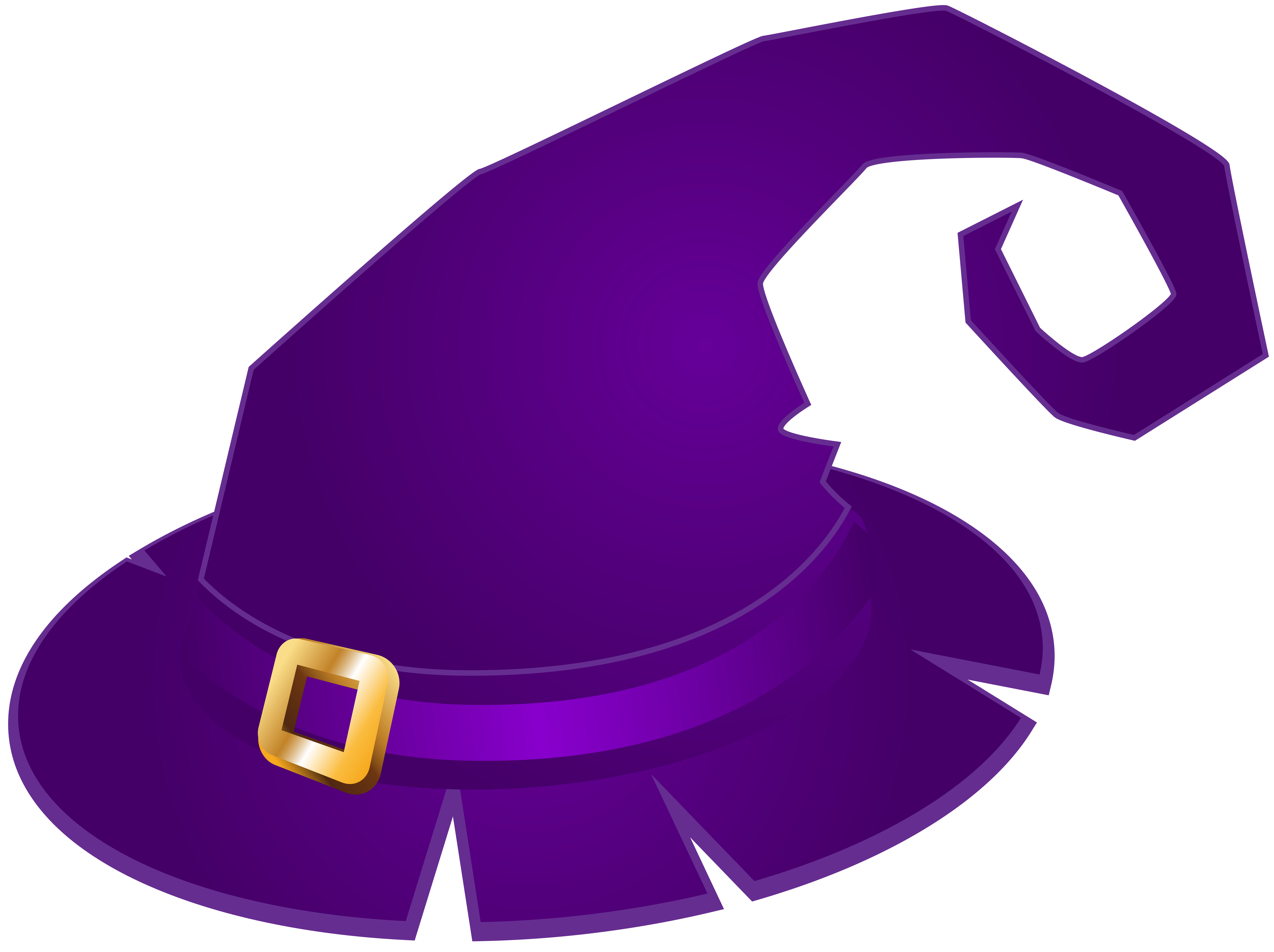 Witch Hat clipart purple PNG size Purple Witch