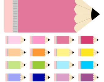 Pencil clipart violet Pencil Pencil clipart School Labels