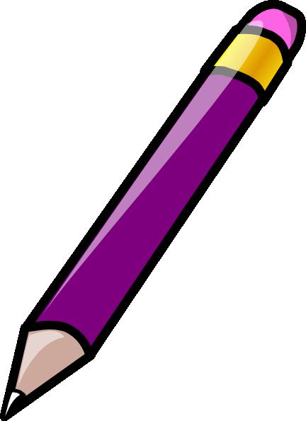 Pencil clipart violet Clip as: art at vector