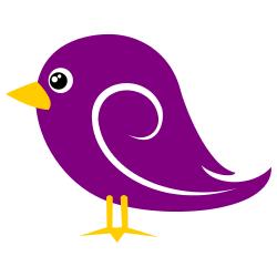 Brds clipart purple Free Bird Violet Bird Art