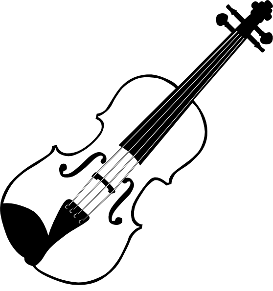 Violinist clipart White Clipart Black Clipart And