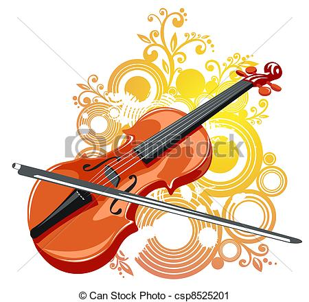 Violin clipart classical And Vector Clip pattern pattern