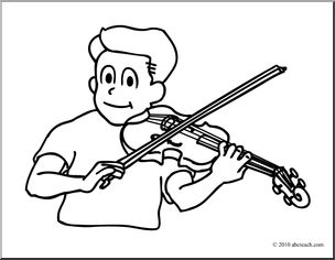 Violin clipart line drawing Art Free Clip Clip page