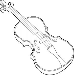 Violin clipart outline Clipart Art Violin Clip Download