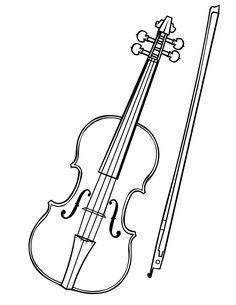 Violin clipart outline A for violin  is