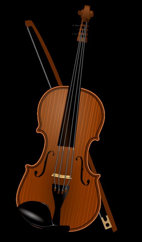 Violin clipart outline Clipart Clip Violin Bold Art