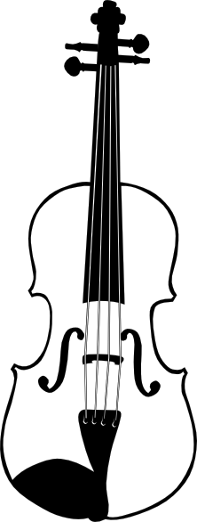 Violin clipart outline This Violin image clip Vertical