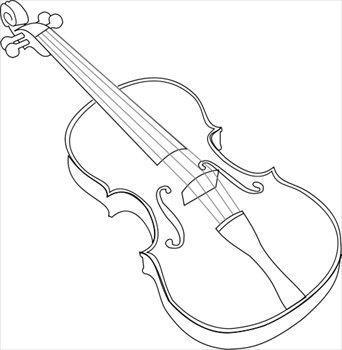 Violin clipart outline Outline Clipart Free outline and