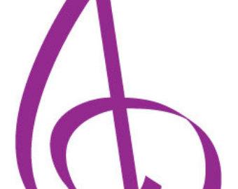 Violin clipart purple Clip Art/ Vector Violin Clef