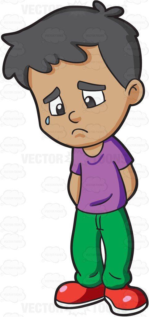 Sad clipart sad kid #3