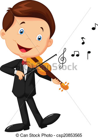 Violinist clipart Violin Vector cartoon csp20853565 playing
