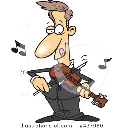 Violinist clipart Clipart toonaday Illustration Illustration by